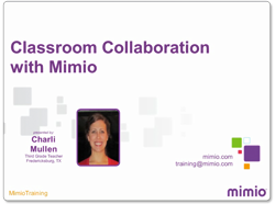 Classroom Collaboration with Mimio