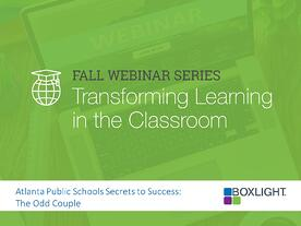 Fall Webinar Series - Transforming Learning in the Classroom