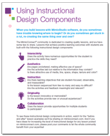 Using Instructional Design Components Guide